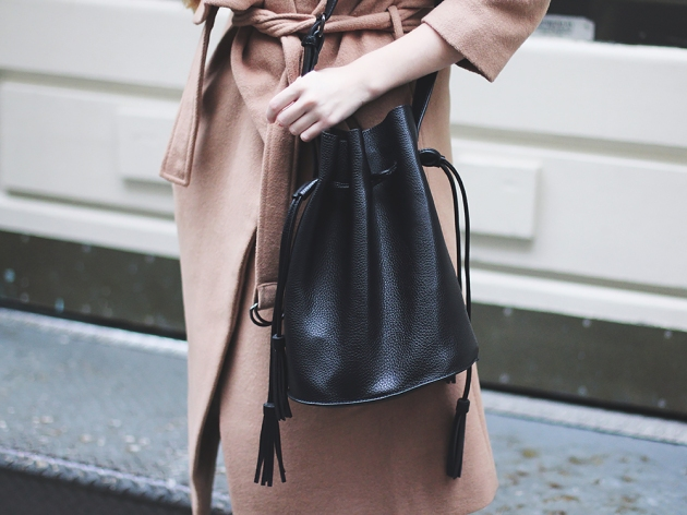Eternally Inspired: Black Bucket Bag